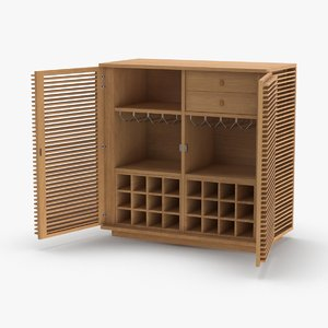 modern-display-cabinet---open 3D model