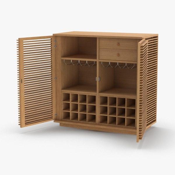 modern-display-cabinet---open 3D model