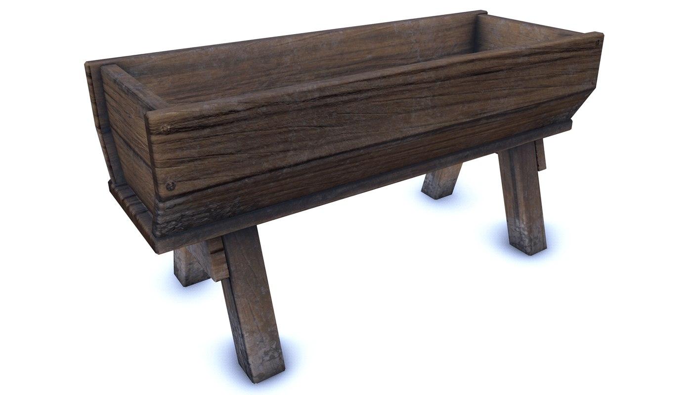 3D medieval trough model