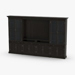 transitional-display-cabinets 3D model