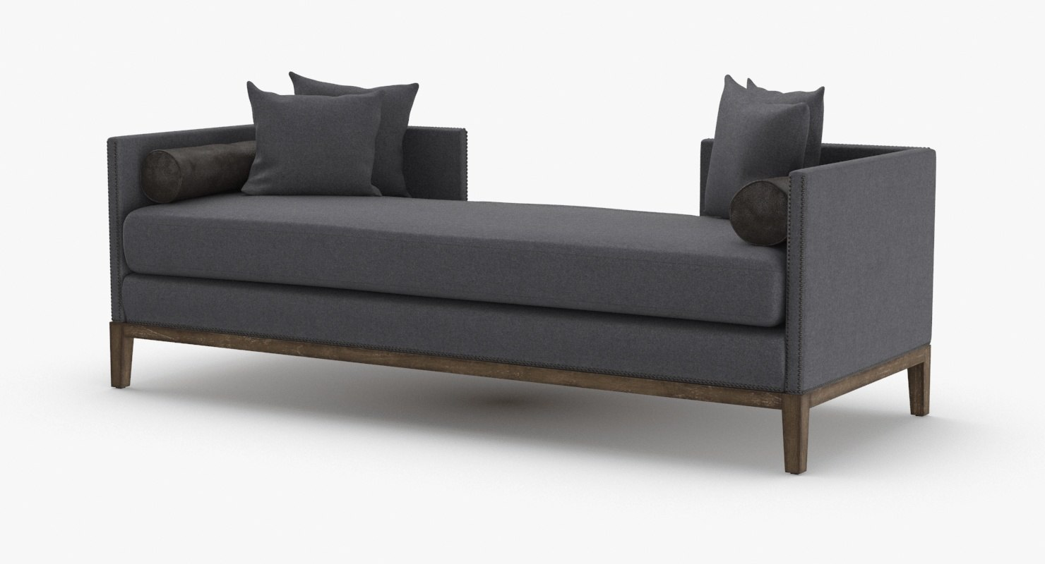 mid-century-modern-chaise 3D model