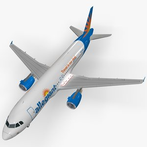 airbus a320 allegiant airplanes 3D model