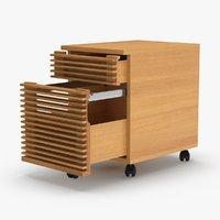 3D modern-filing-cabinet model