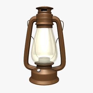 antique civil war oil lamp 3D model