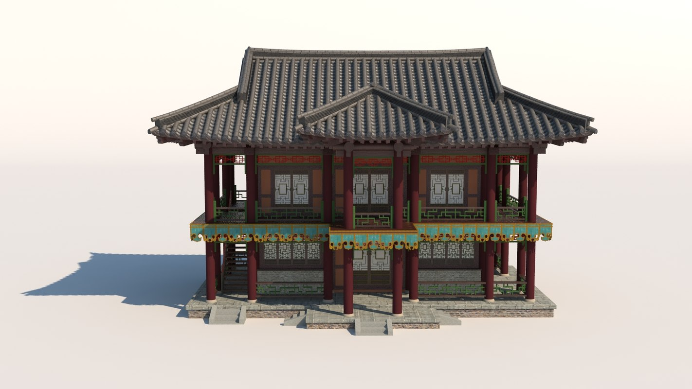 classic china house 3D model