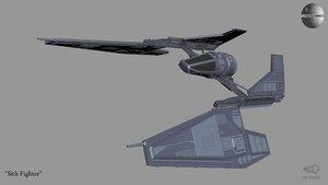 3D sith fighter revan model