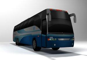 bus travel 3D model