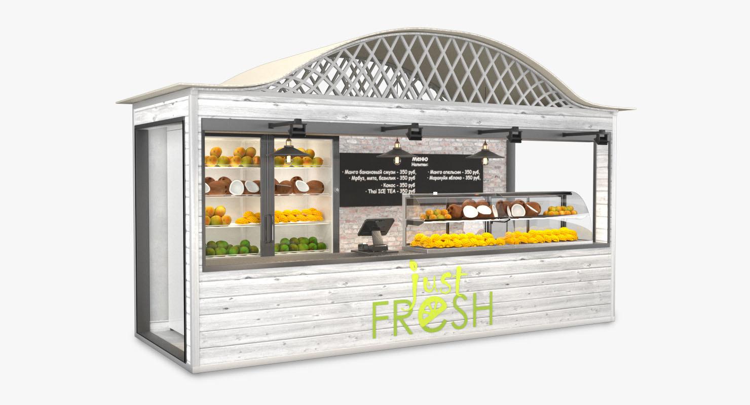 3D fruit shop