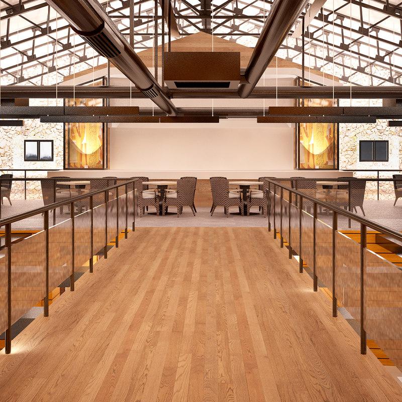 museum interior 3D