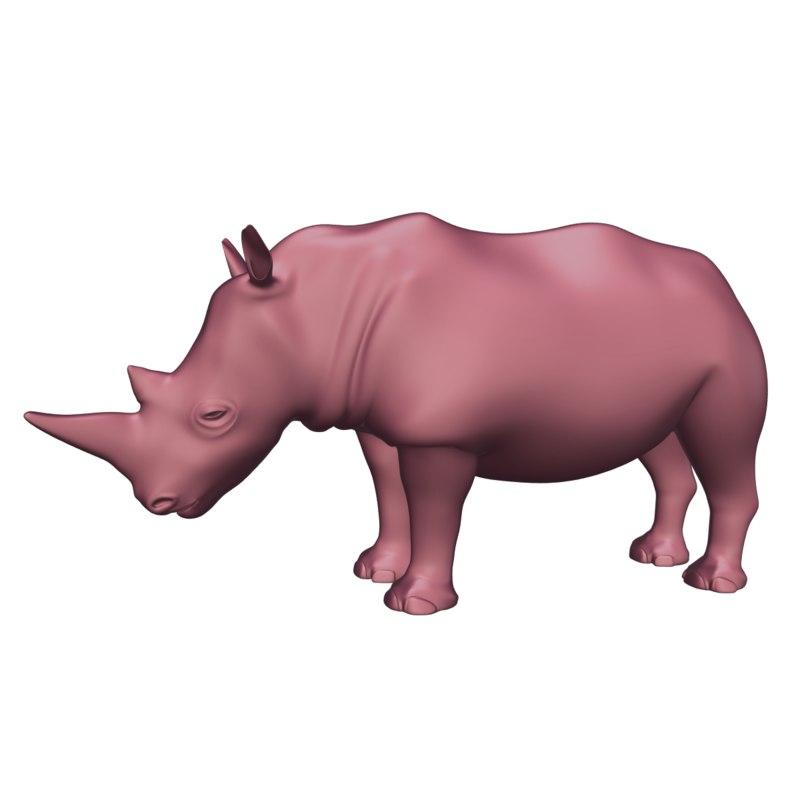 rhinoceros blender 3D model