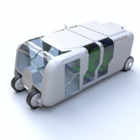 Train Bus - Concept of future transport system