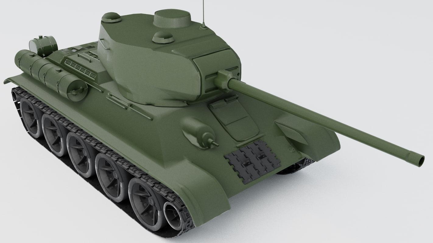 tank t 34-85 3D model