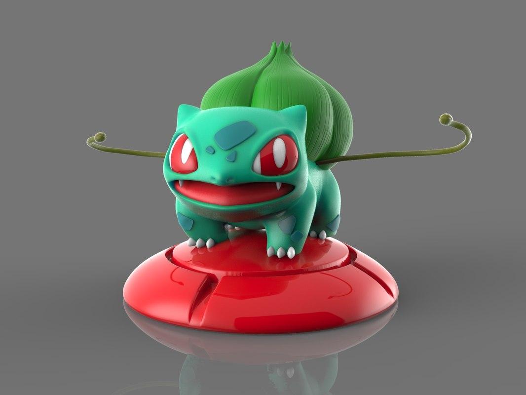 3D pokemon bulbasaur