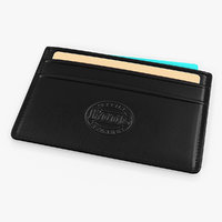 black leather card holder 3D model
