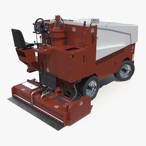3D ice resurfacing machine rigged model
