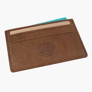 leather business card holder 3D model