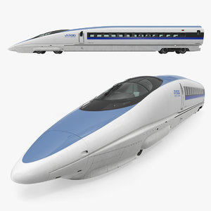 shinkansen 500 locomotive 3D model