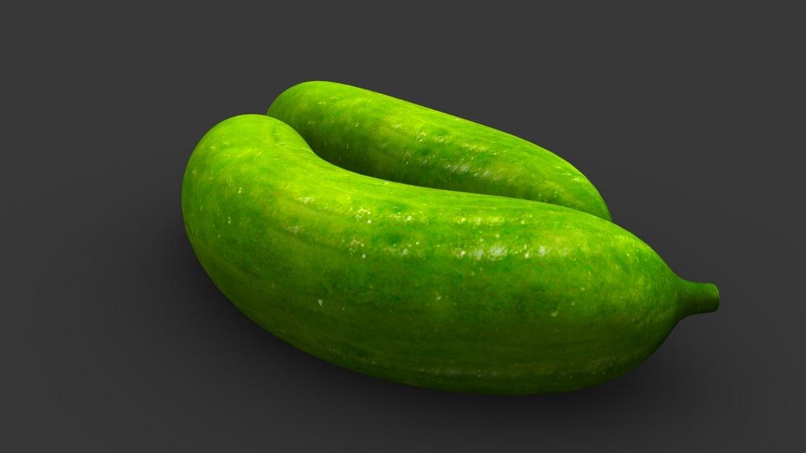 cucumber vegetables slicing 3D model