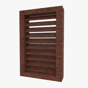 wooden shutter model
