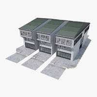 modular industrial building 3D model