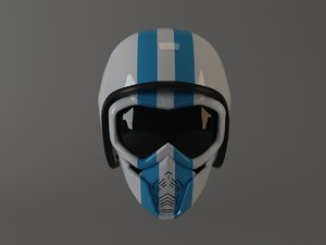 motorcycle open helmet mask 3D