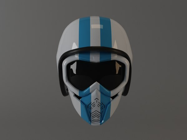 motorcycle open helmet mask 3D