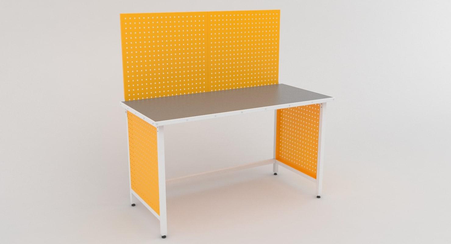 working table metal model