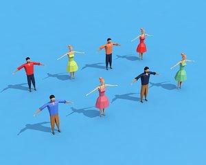 3D characters rigging model