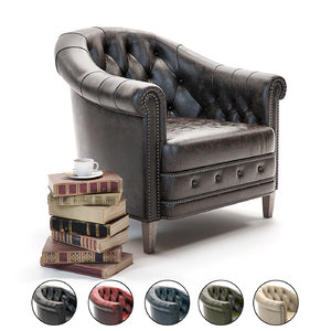 3D curations limited chambery armchair model