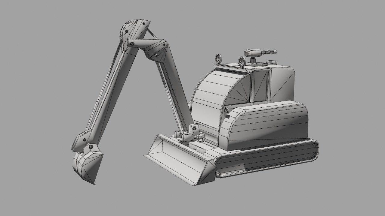 excavator toy 3D model