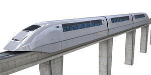 3D monorail design model