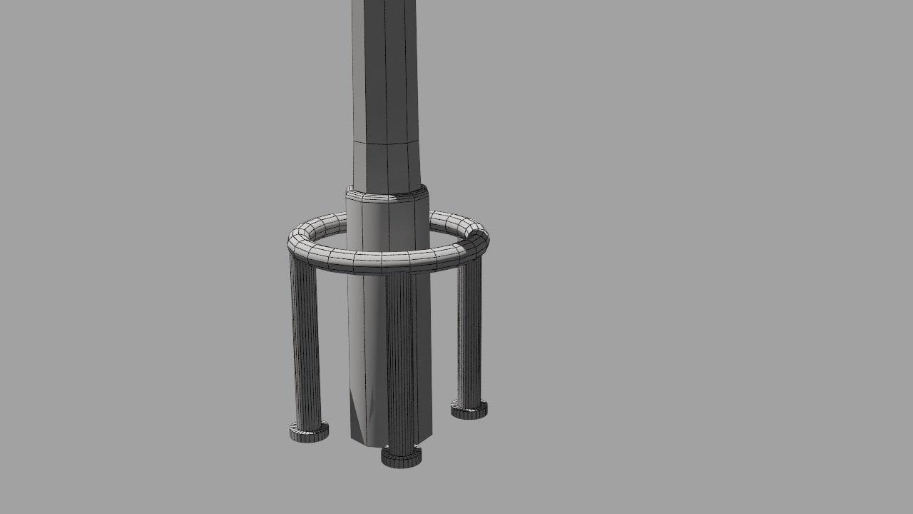 3D model lightpost street lamp