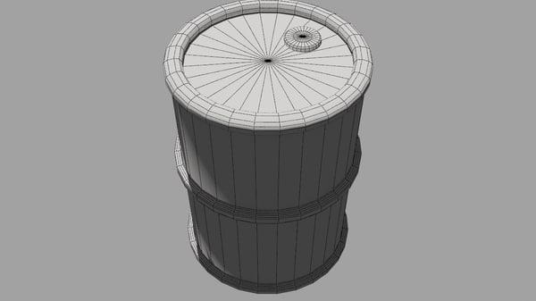 jerrycan oil metallic 3D