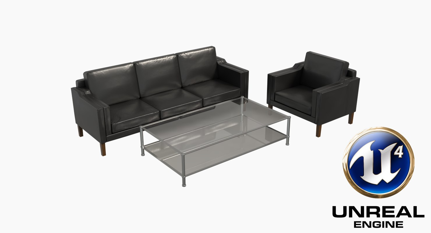 couch unreal engine sofa 3D model