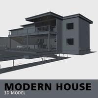 3D model simple pool deck