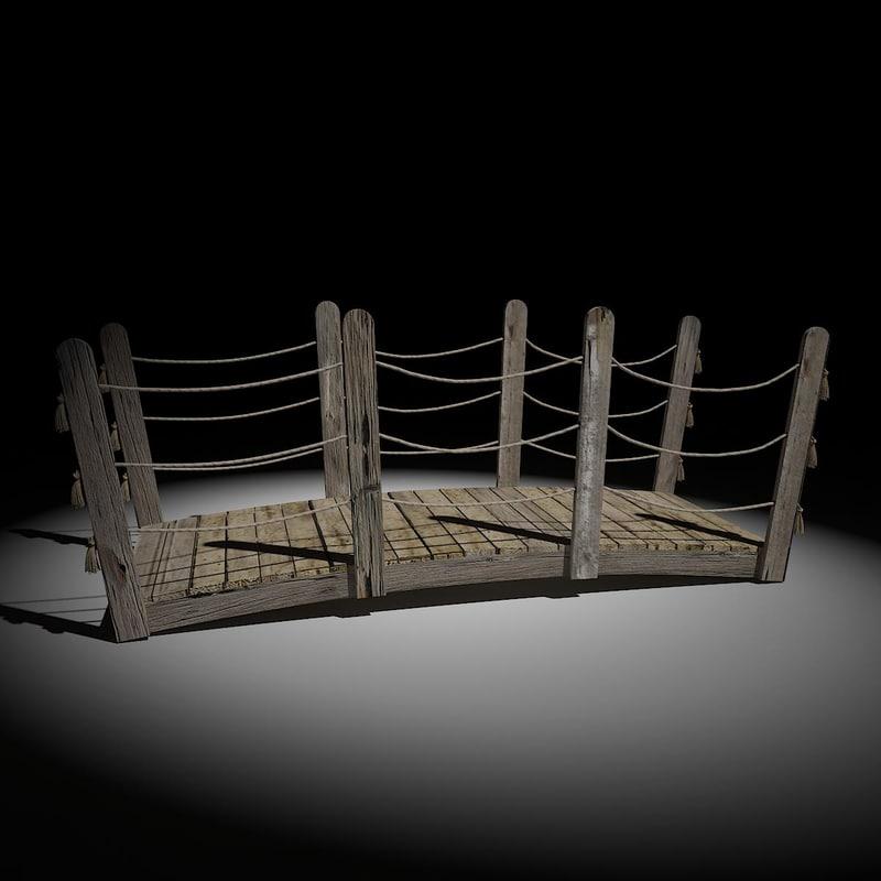 little wood bridge 3D model