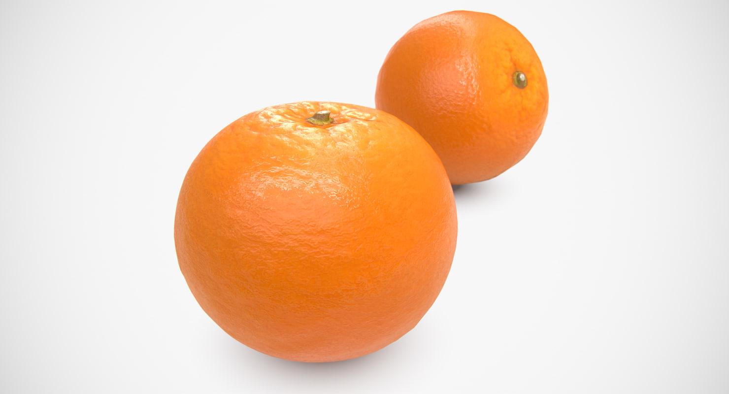 3D orange scaned scanned polys