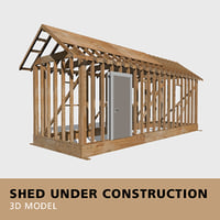 3D shed 2x4 studs
