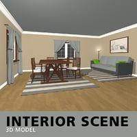 interior scene 3D