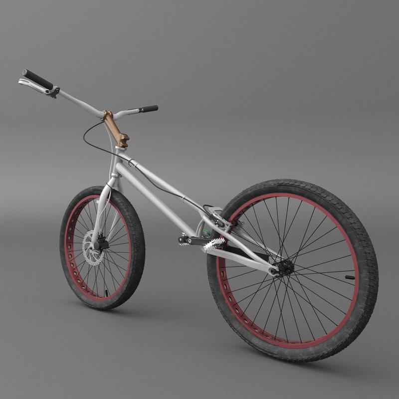 bike trial 3D model