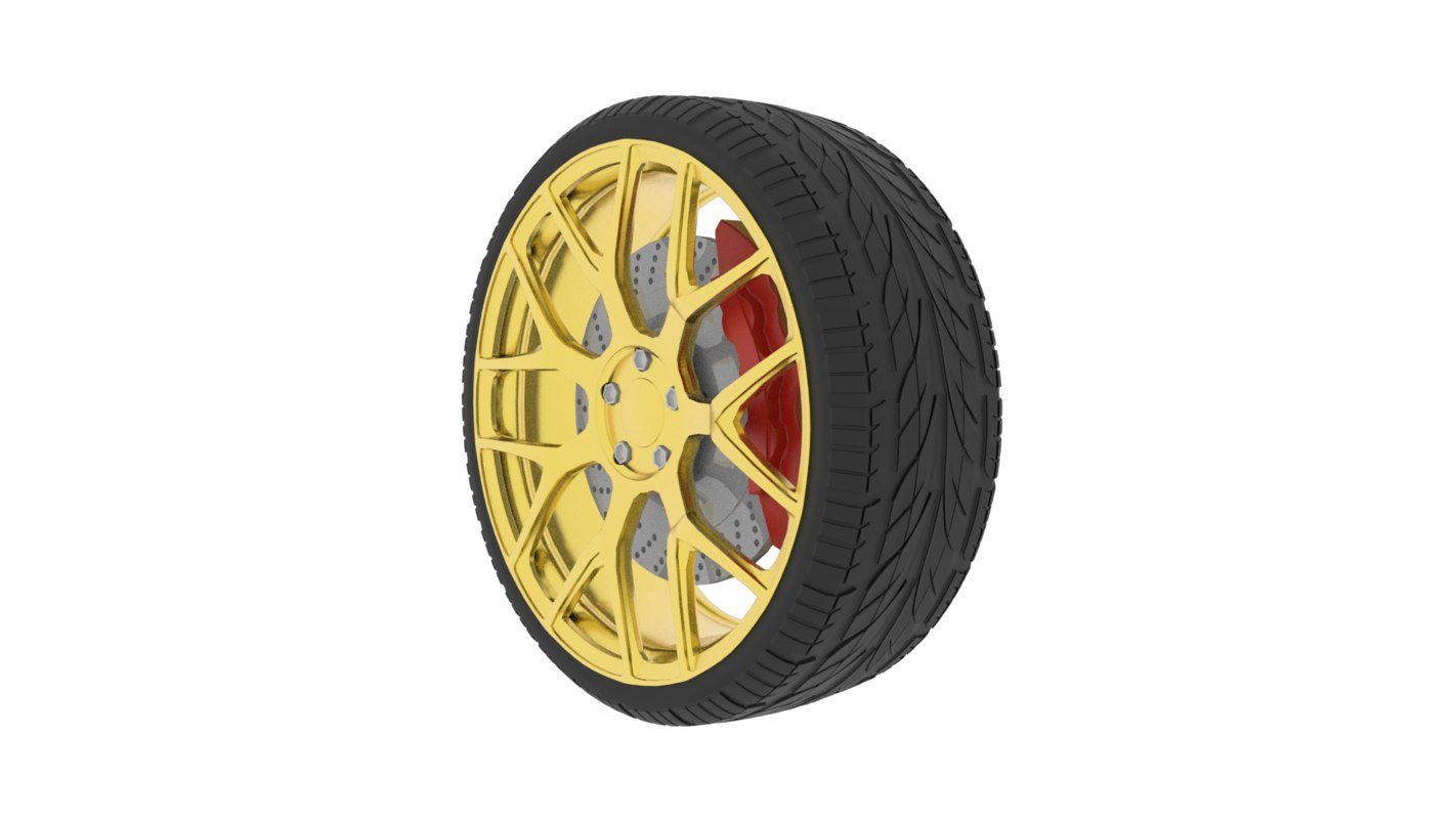 car wheel m160 3D model