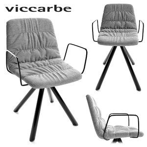 3D viccarbe maarten chair model