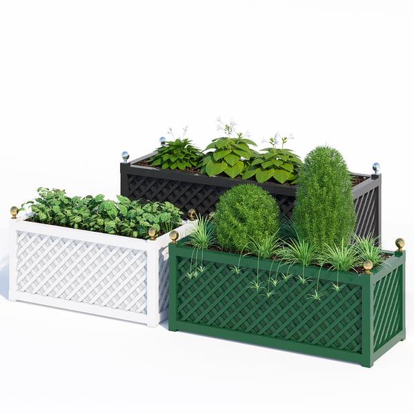 treillage jardinieres 3D model