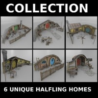 3D halfling homes