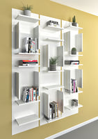 book shelf libreria fifty 3D model