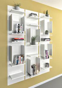book shelf libreria fifty 3D model