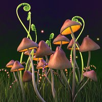 3D model fantasy shrooms