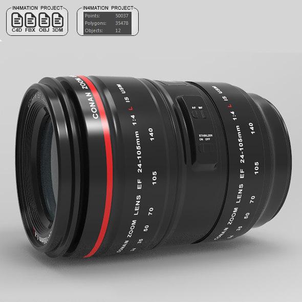 3D 24-105mm model