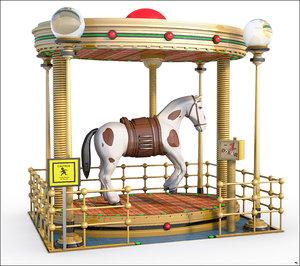 horse fairground 3D model
