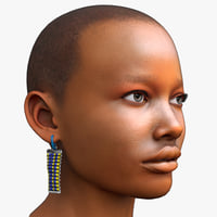 African Woman Head Game Ready